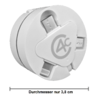 3in1 Ladekabel ausziehbar mit USB Typ-C, Micro-USB, 8pin-Lightning (Datenkabel)