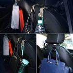 2x Auto Haken für KFZ Kopfstütze, Autositz Halterung für Kleiderbügel oder Einkaufstüten