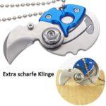 Mini Karambit Messer Schlüsselanhänger Klappmesser