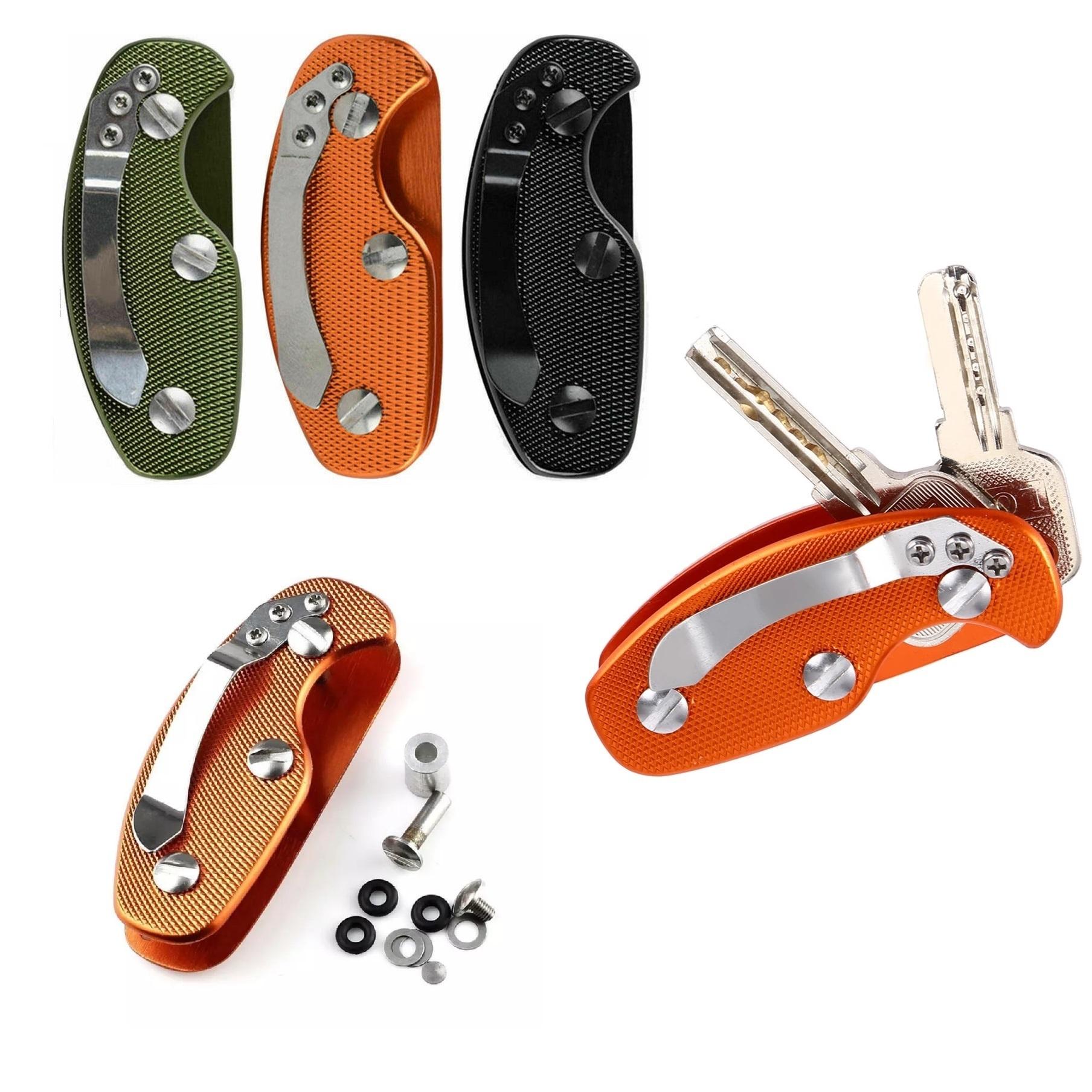 EDC Leichtes Falten Schlüssel Organizer Taschenhalter Aluminium Schlüssel H #LY