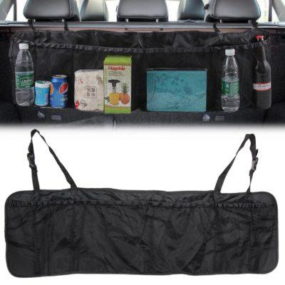 Kofferraum Organizer, Kofferraumtasche, Sitzlehnentasche mit 6 großen Taschen in schwarz