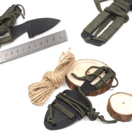 NeckKnife Paracord Griff, Taschenmesser mit Kydexscheide