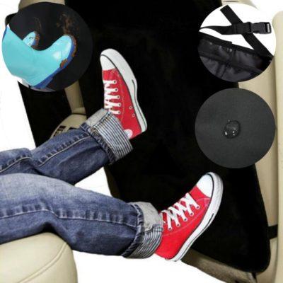 Auto Rücksitzschoner Rückenlehnenschutz KFZ Sitzschoner Autositzschoner Kinder in schwarz