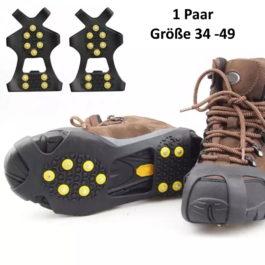 Schuhspikes, Anti-Rutsch Eiskrallen, Gleitschutz Gr. 34-49