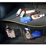 Klett Kofferraumnetz / Auto Netztasche mit Klettverschluss