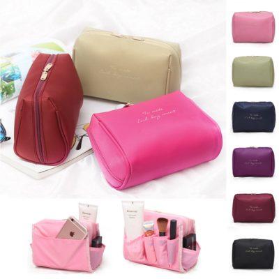Kleine modische Kosmetiktasche, Kulturbeutel, Kulturtasche für Frauen und Männer