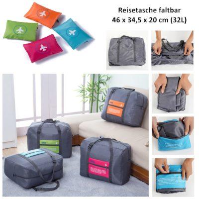 Reisetasche faltbar Bordgepäck 32L Tasche Sporttasche Umhängetasche Freizeittasche