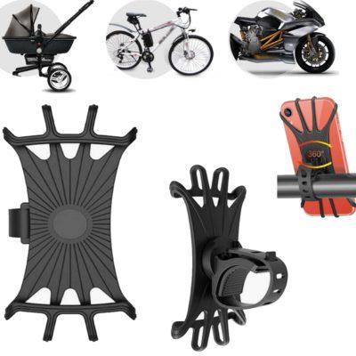 Universal Handyhalterung, Smartphone Halterung für Fahrrad, Motorrad, Kinderwagen oder E-Scooter