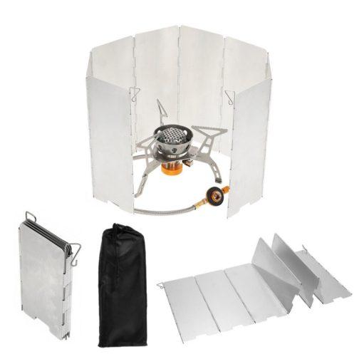 Windschutz für Campingkocher