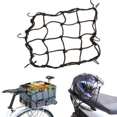 Gepäcknetz klein f. Motorrad-Helm, Kofferraum, Fahrrad, Fahrradkorb, Gepäck Befestigung in Schwarz